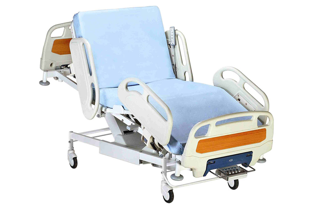 5-Function-Hospital-Motorised-Bed